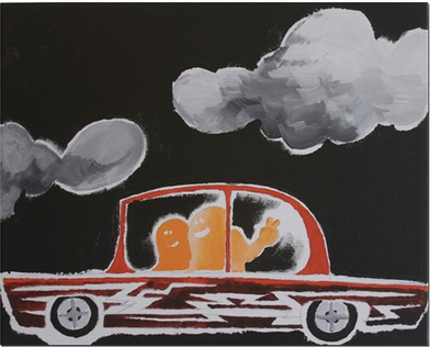 MARK GONZALES『UNTITLED (CAR NO.1)』 edition of 100 / サイン入り キャンバス (406 x 508mm)