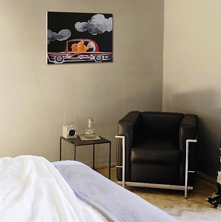 MARK GONZALES『UNTITLED (CAR NO.1)』屋内設置イメージ