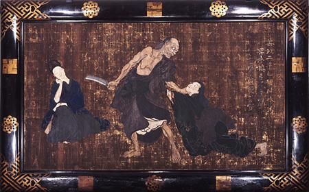 歌川国芳(一勇斎)『一ツ家』、安政2年(1855)、228.2×372.0?、顔料・板・額、金龍山浅草寺蔵