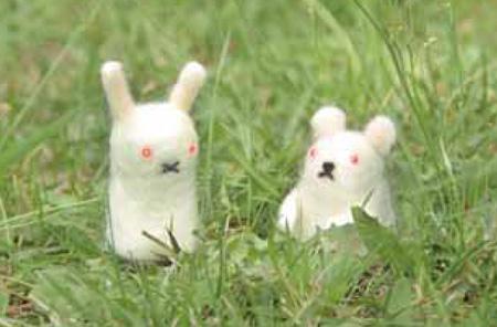 『羊毛フェルトでふわピカ動物をつくろう 〜羊毛フェルト+LEDキット付き〜』より