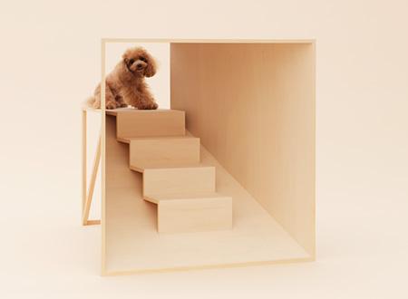 『D-Tunnel』 デザイン:原研哉、犬種:ティーカッププードル photo by Hiroshi Yoda