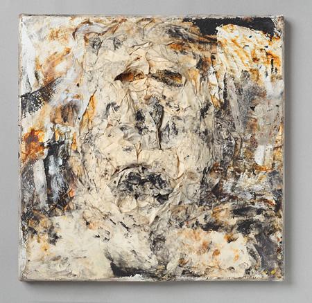 『Le souffle de l'aube』 mixed media on canvas, 30 x 30 cm ©Gene Mann, Photo courtesy Yukiko Koide Presents