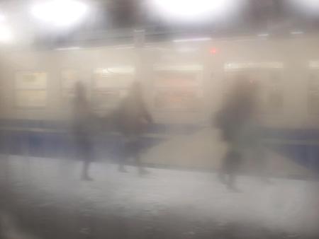 大洲大作『光のシークエンス』より 奥羽本線 弘前駅 2008年12月27日 ©Daisaku OOZU