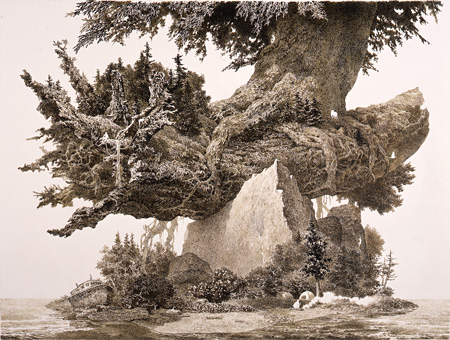 池田学『起点』2012年 ©IKEDA Manabu  Courtesy Mizuma Art Gallery