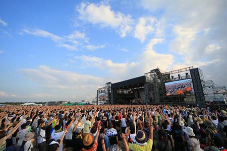 『RISING SUN ROCK FESTIVAL』過去の会場風景 撮影:n-foto RSR team