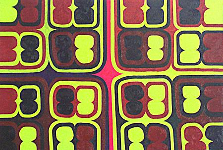 『セル(ローズ・ウルトラマリン・イエロー、5)』 2008年 油彩、カンバス Courtesy Gallery Cellar