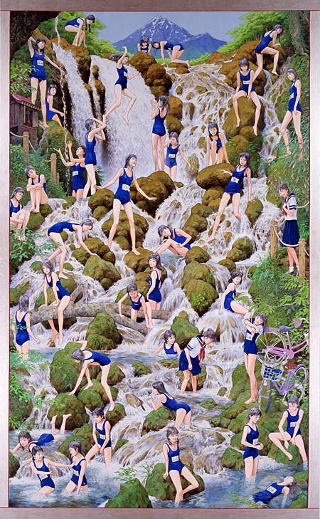 会田誠『滝の絵』 2007-10年 アクリル絵具、キャンバス 439×272cm 国立国際美術館蔵、大阪 Courtesy: Mizuma Art Gallery