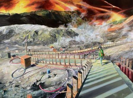 太田侑子『地獄谷』 サイズ:194×259cm 素材:油彩・キャンバス 制作年:2012年