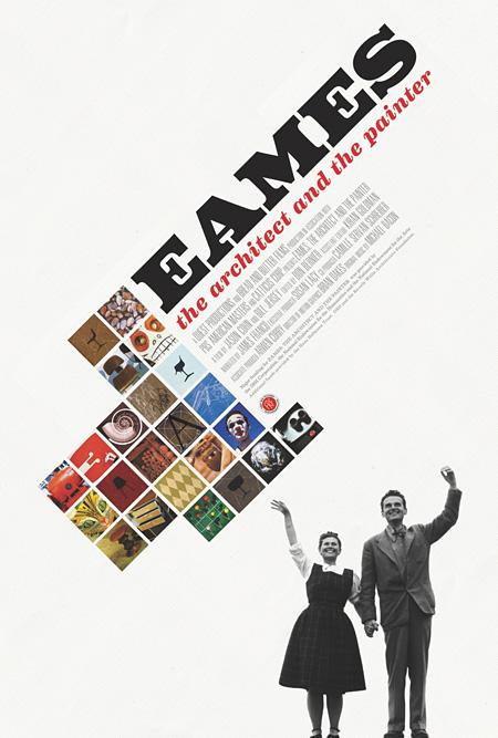 『ふたりのイームズ:建築家チャールズと画家レイ』海外版ポスター ©2011 Eames Office, LLC.
