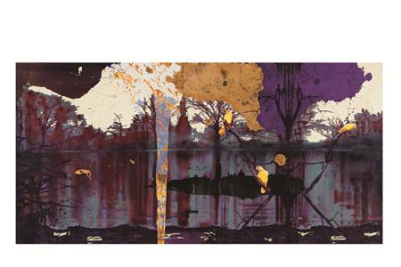 VOCA展2013 VOCA奨励賞 柴田麻衣『Lakeside』オイルバー、アクリル、パネル 194.0×390.9×3cm 撮影:上野則宏