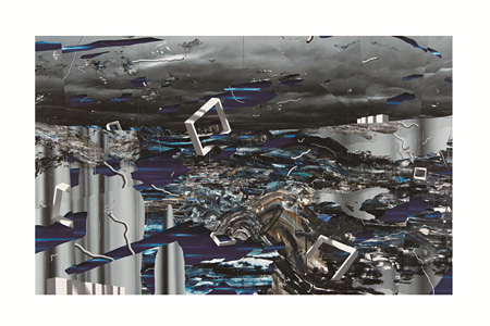 VOCA展2013 佳作賞 吉田晋之介『雨』油彩、カンバス 250.0×400.0×6cm 撮影:上野則宏