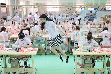 Today's Levitation: Vietnam Wacoal Corp., Bien Hoa, Vietnam ©Natsumi Hayashi, Courtesy MEM