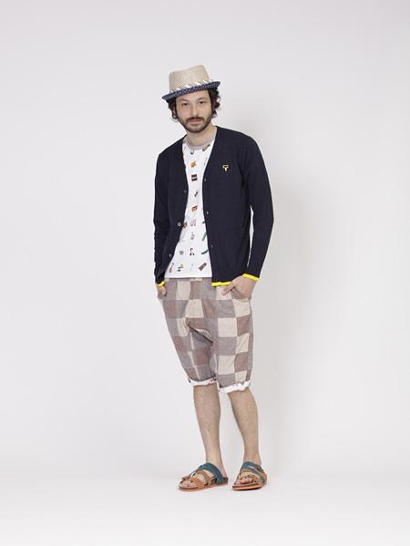 トクマルシューゴ×FRAPBOIS Tシャツ&カーディガン着用イメージ