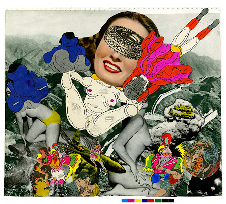 collagebook41 1969 ink, magazine scrap collage on paper 385 x 450mm