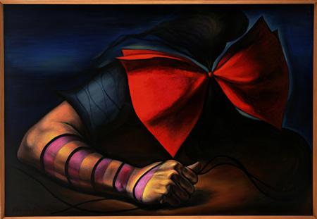 岡本太郎『傷ましき腕』1936/1949年 油彩、カンバス 111.8×162.2 cm 川崎市岡本太郎美術館蔵