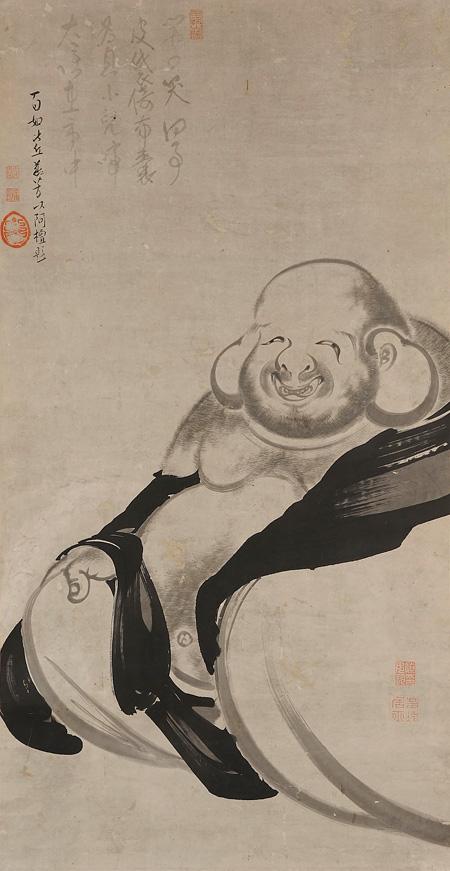 伊藤若冲『布袋図』前期展示