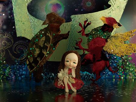 新作『こども部屋のアリス』より「エビ踊りをするグリフォンとウミガメもどき」