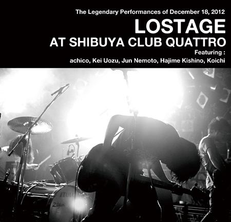 LOSTAGE『LOSTAGE AT SHIBUYA CLUB QUATTRO』アナログ盤THROAT RECORD販売用ジャケット