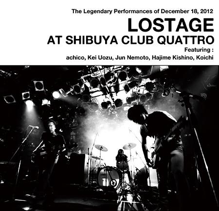 LOSTAGE『LOSTAGE AT SHIBUYA CLUB QUATTRO』CD盤ジャケット