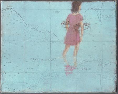 フランシス・アリス『無題(コヨーテ、2006-08 年、「川に着く前に橋を渡るな」のための習作)』2006-08年 油彩、ろう画/木製パネルにカンヴァス