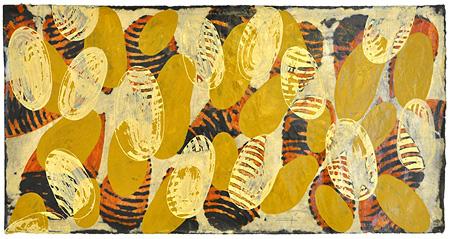 My Landscape IV 紙にアクリル、74x142cm