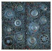 草間彌生『海底』184.5x185.7x22.0cm 1983 詰め物入り縫製布、既製品、ラメ塗料