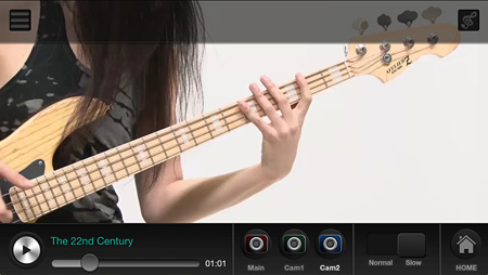 『KenKenが教えるベースギター#1』スクリーンショット ©monsterdive, inc. All rights reserved.