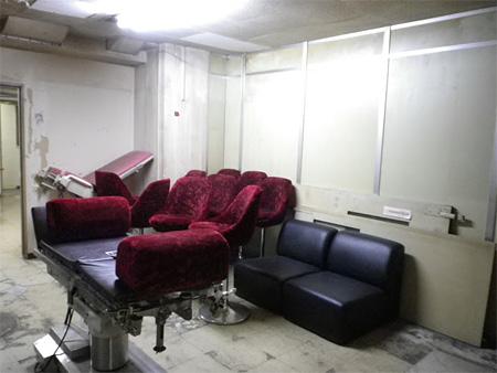 玉井病院スタジオの地下にあるフリースペース