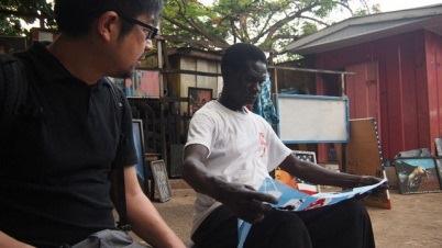 小沢剛 ガーナ訪問の様子