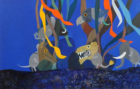 『みどりのしっぽのねずみ』 1973年 The Green Tail Mouse ©1973 by Leo Lionni, renewed 2001 by Nora Lionni and Louis Mannie Lionini/ Pantheon Works by Leo Lionni, On Loan By The Lionni Family