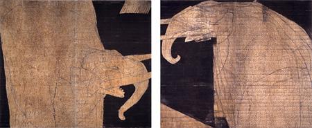 岡村桂三郎『黄象 05-1』2005年 東京国立近代美術館蔵