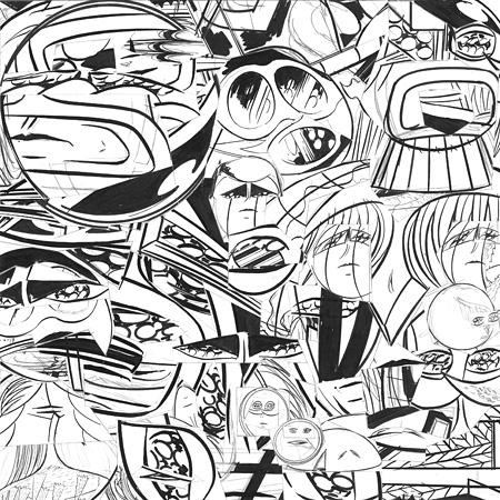 横山裕一『世界地図の仲間』2012-2013 コラージュ