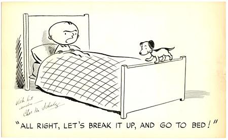 「リル・フォークス」原画(1949年)© 2013 Peanuts Worldwide LLC