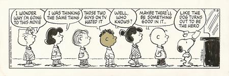 「ピーナッツ」原画(1989年7月8日)© 2013 Peanuts Worldwide LLC