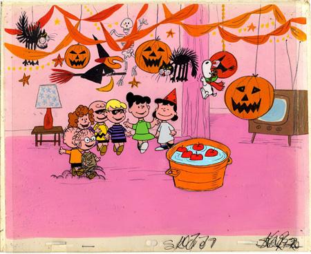テレビアニメーション「スヌーピーとかぼちゃ大王」セル画(1966年)© 2013 Peanuts Worldwide LLC