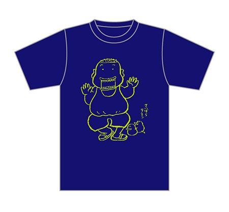 「石川浩司Tシャツ あお(西原理恵子先生画)」イメージビジュアル