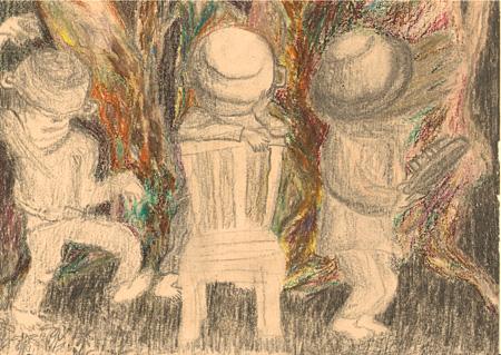 松本力『お釜かぶってちょっとダンス』のためのイメージ 2013年