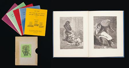 マックス・エルンスト コラージュ集『慈善週間あるいは七大元素』(5組) 1934年 印刷物、紙 高松市美術館蔵