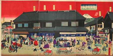 三代目歌川広重『東京名所之内京橋通リ之真景』(第3期展示作品)