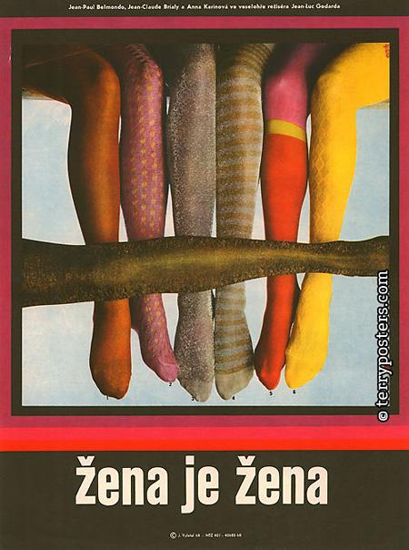 『女は女である』(1961年、フランス=イタリア、ジャン=リュック・ゴダール監督)1968年 78×58 ポスター:ヨゼフ・ヴィレチャル