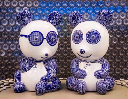 『熊貓 』(大)  スチール塗装 2012年