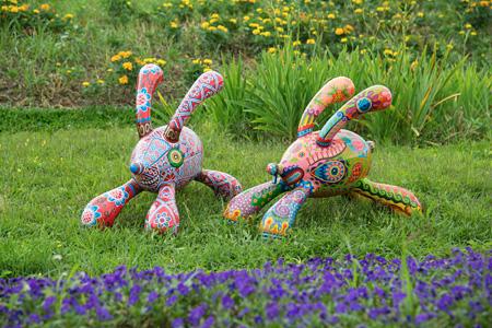 『躍進Q兔』 スチール塗装