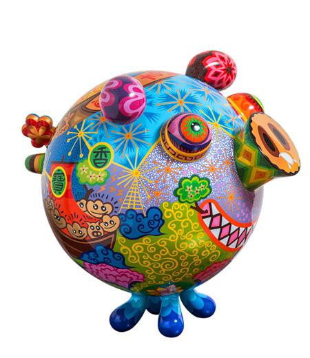 『圓豬』 スチール塗装