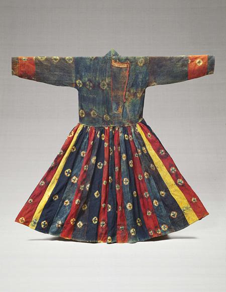 毛織絞衣裳 チベット 19-20世紀 縦126.0cm 柳宗理蒐集品
