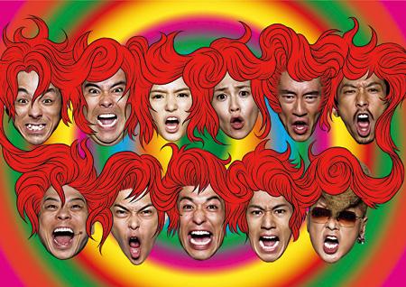 パルコ劇場40周年記念公演『大パルコ人2 バカロックオペラバカ「高校中パニック!小激突!!」』イメージビジュアル