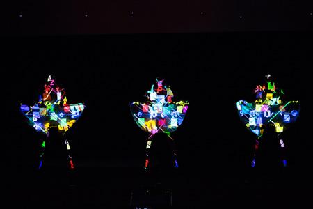 『カンヌライオンズ 国際クリエイティビティ・フェスティバル 2013』でのPerfumeパフォーマンス Photo: Dentsu, Getty Images