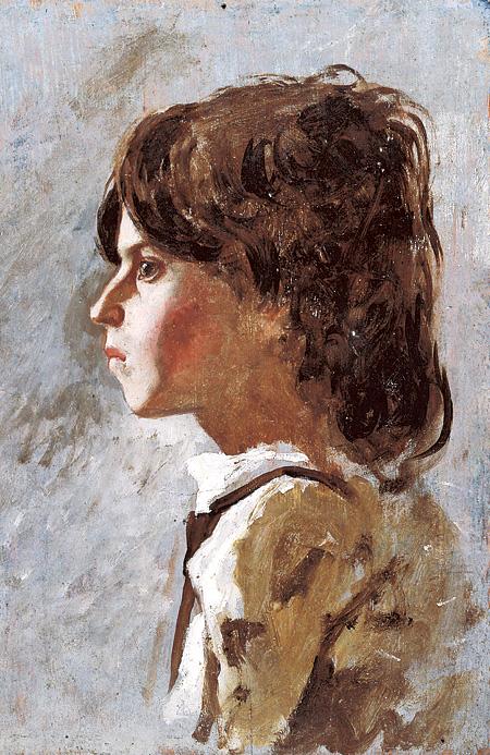 テレマコ・シニョリーニ『少年の頭部』油彩・板 © Galleria d'arte moderna di Palazzo Pitti
