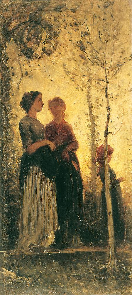 クリスティアーノ・バンティ『夕焼け』1870-1880年油彩・板 © Galleria d'arte moderna di Palazzo Pitti