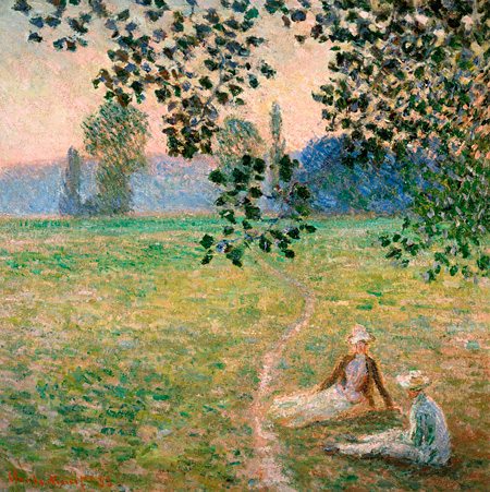 クロード・モネ『草原の夕暮れ、ジヴェルニー』1888年 油彩/カンヴァス 三菱一号館美術館寄託