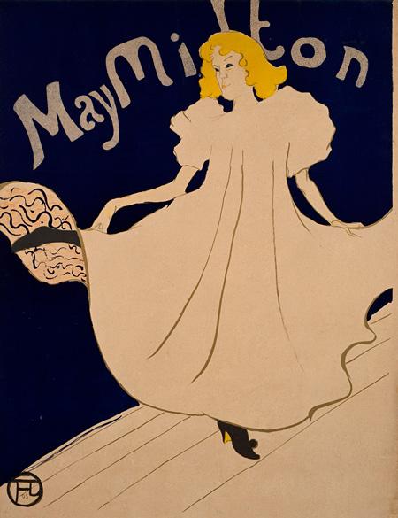 アンリ・ド・トゥールーズ=ロートレック『メイ・ミルトン』1895年 リトグラフ/紙 三菱一号館美術館所蔵
